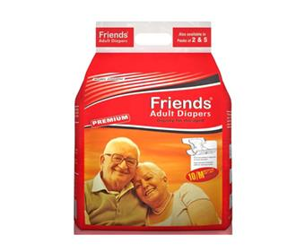 Friends Adult Diapers Medium (10 Diapers)