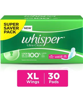 Whisper Ultra Clean XL Wings (30 pads)